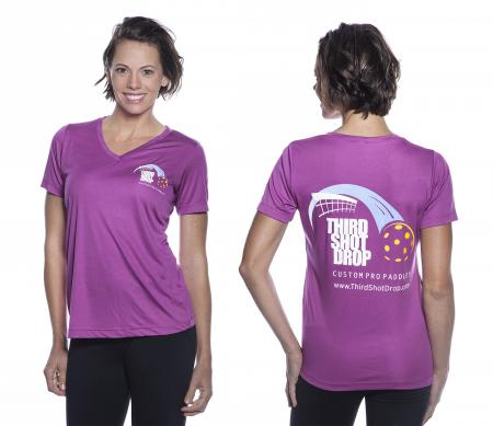 Women's Dri Fit Short Sleeve V-Neck Shirts