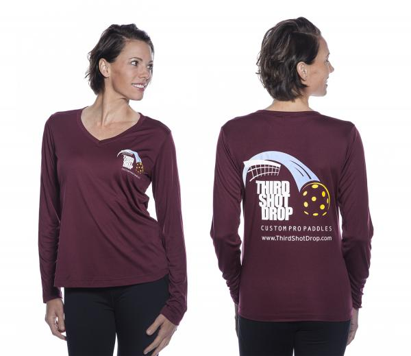 dc7fc6e65 Women's Dri Fit Long Sleeve V-Neck Shirts